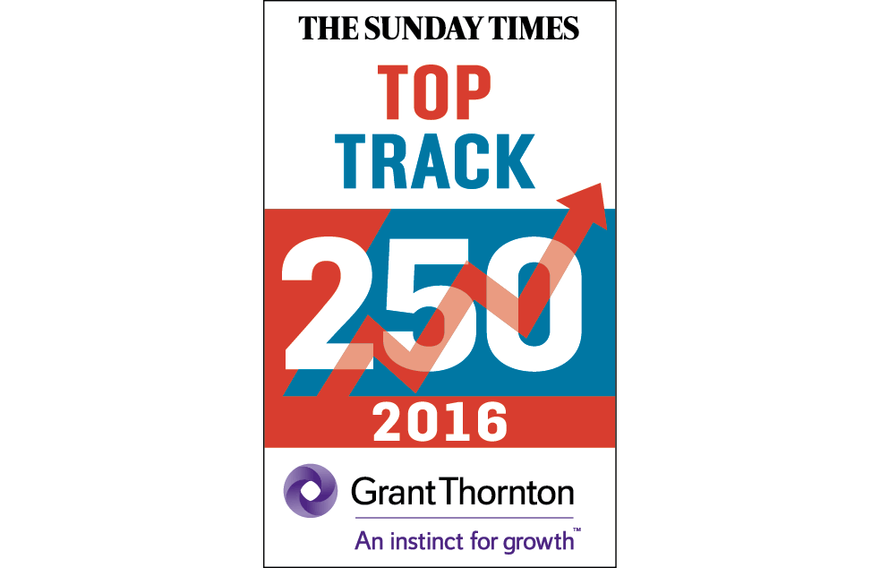 The Sunday Times 2016 Top Track 250 logo.