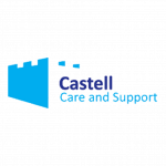 A partner logo: Castell Care Homes
